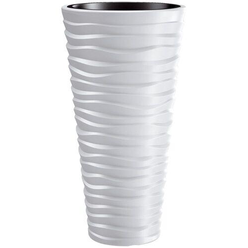 Prosperplast Blumentopf »Sand slim«, weiß, Ø 34,9, weiß
