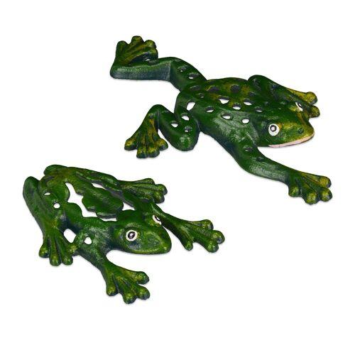 relaxdays Gartenfigur »Gartenfigur Frosch 2er Set«