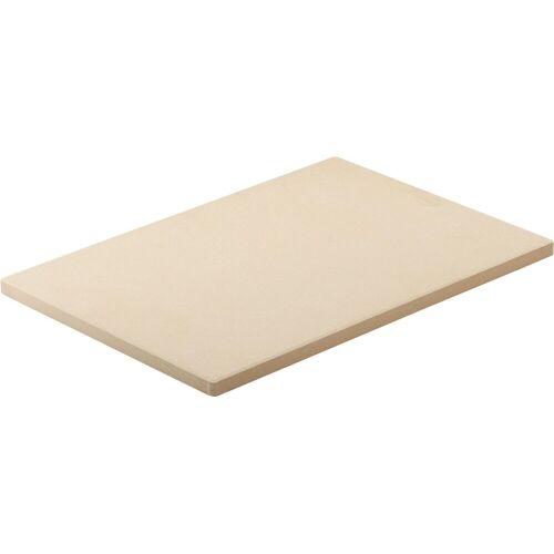 RÖSLE Pizzastein, Schamottstein, zum Backen von Pizza, Flammkuchen oder Brot, für Grill und Backofen, 42 x 30 cm