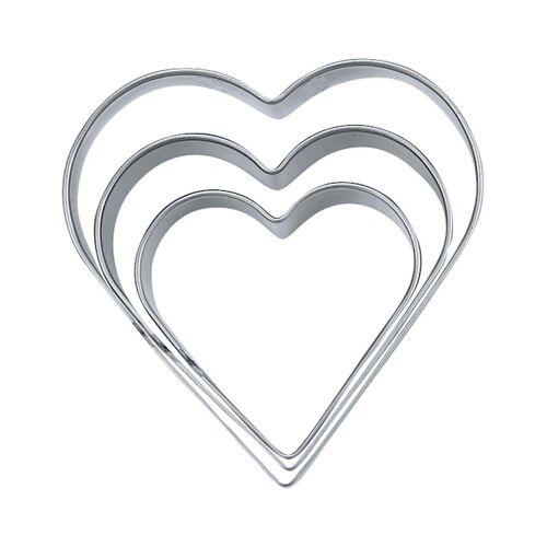STÄDTER Ausstechform Herz »Hochzeit«, Silber
