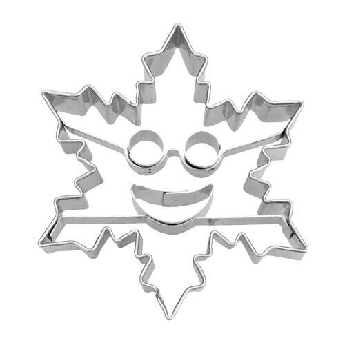 STÄDTER Ausstechform »Städter Ausstecher Eiskristall mit Smiley«, metall