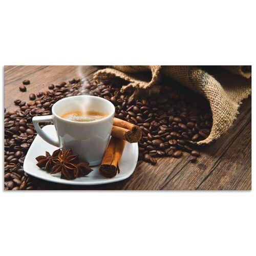 Artland Küchenrückwand »Kaffeetasse Leinensack mit Kaffeebohnen«, (1-tlg)