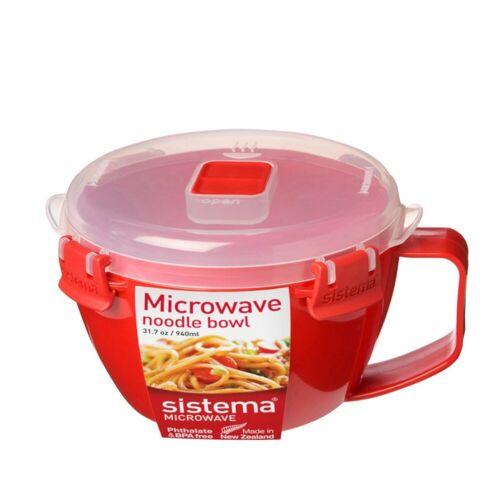 sistema Mikrowellenbehälter »Mikrowellen Schüssel mit Henkel, rot«, Kunststoff lebensmittelsicher