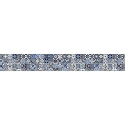 MySpotti Küchenrückwand »fixy F3«, selbstklebende und flexible Küchenrückwand-Folie, blau