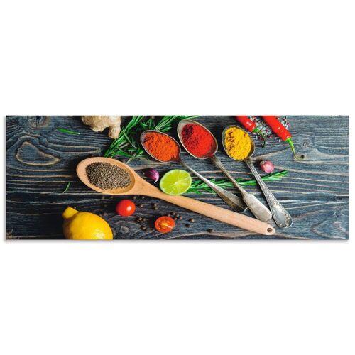 Artland Küchenrückwand »Gewürze in Metalllöffeln«, (1-tlg)