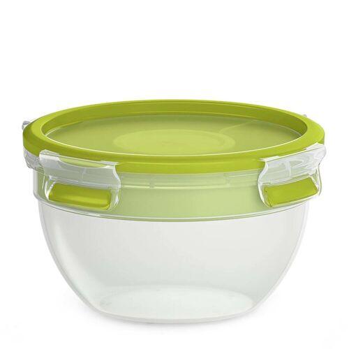 Emsa Salatbox »Salatbox mit Einsätzen Clip Go«, Kunststoff, (5-tlg), Grün