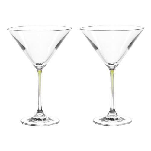LEONARDO Gläser-Set »La Perla Cocktailschalen 2er Set Grün«, Glas
