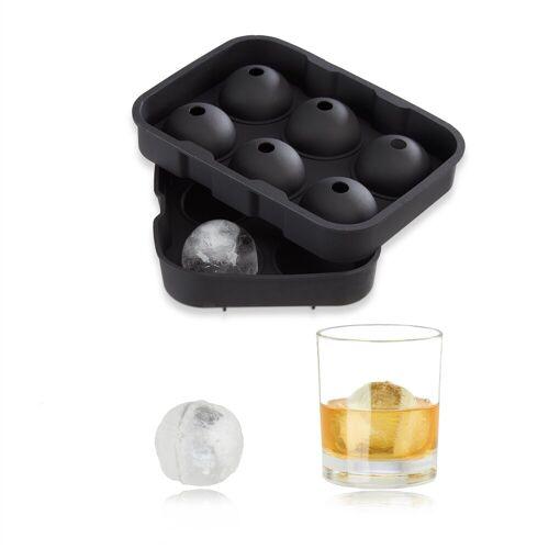 relaxdays Eisform »Eiskugelform Silikon«