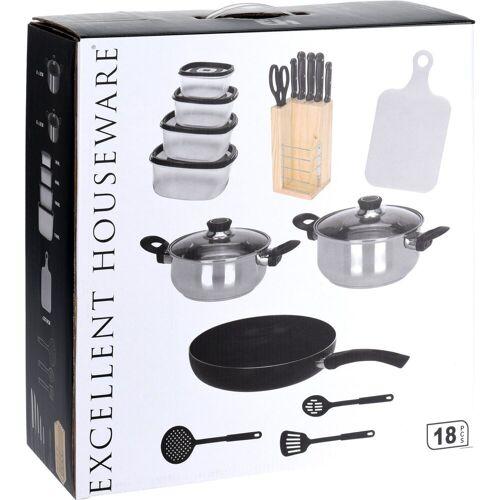Excellent Houseware Kochtopf, rostfreier Stahl