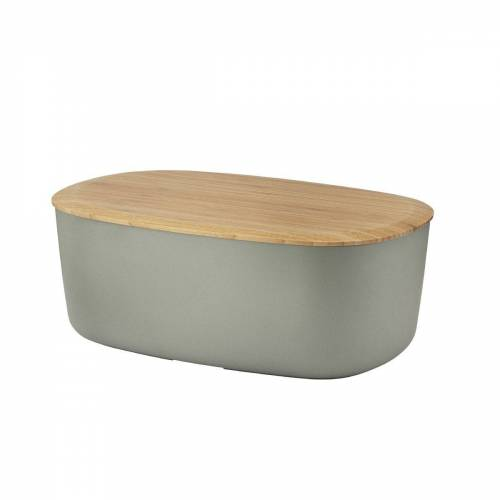 Stelton Brotkorb »RIG-TIG Brotkasten BOX-IT, warmgrau«, Melamin, Bambus