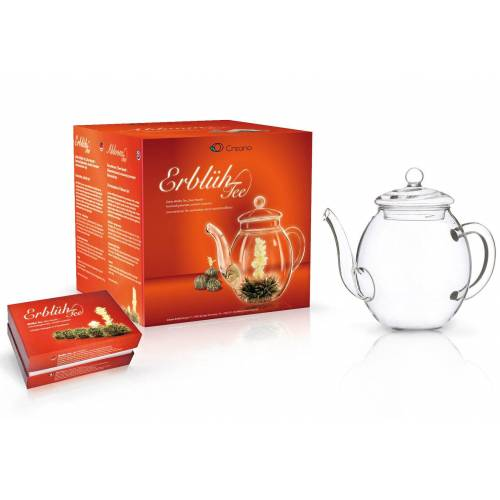 Creano Tee-Set »Weißer Tee«, 0,5 l, (Set), Geschenkidee