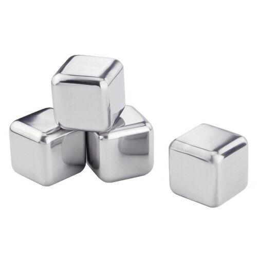 Contento Eiswürfelform »Edelstahl-Eiswürfel«, (Set 4-tlg), in Geschenkbox