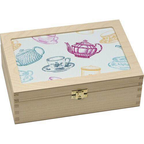 Contento Teebox »Tassen/Kannen grafisch«, Holz, (1-tlg)