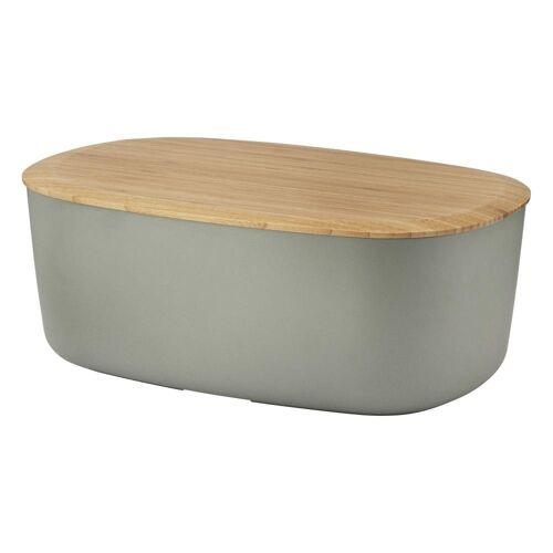 RIG-TIG Brotkasten »Box-It Bambus Melamin Grau«, Holz, (1-tlg)