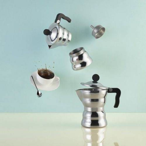 Alessi Espressokocher MOKA Classic 1, Silber