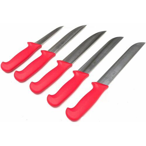 AMIL Messer-Set (5-tlg), Aus hochwertigem Edelstahl, rot
