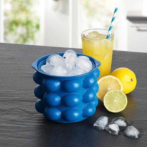 GOURMETmaxx Eiswürfelbehälter, für 24 Eiswürfel, blau