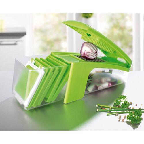 GOURMETmaxx Gemüseschneider Küchen-Genie, Multischneider 8 Einsätze Gemüseschneider Allesschneider Küchenreibe Gemüsehobel