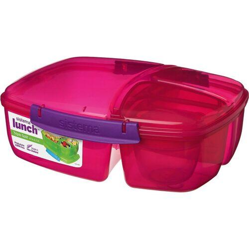 sistema Brotschale »Triplesplit Lunchbox, 3-fach unterteilt, pink«, pink