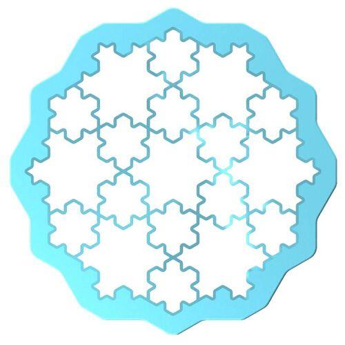 LEKUE Ausstechform »Cookie Puzzle«, hellblau