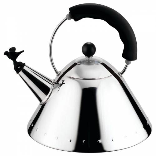 Alessi Wasserkocher Wasserkessel schwarz, 2000 l