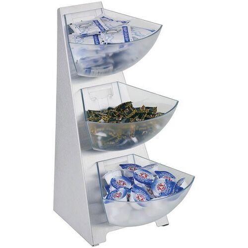APS Küchenregal, Edelstahl/Kunststoff, Inhalt Schütten 1 Liter