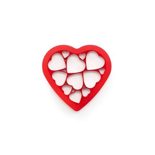 LEKUE Ausstechform »Cookie Puzzle«, rot