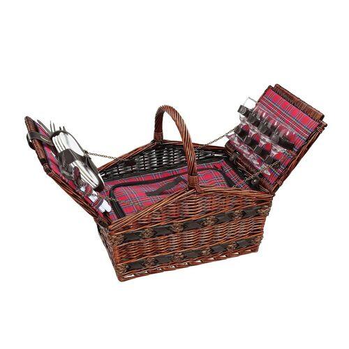 Cilio Picknickkorb »Picknickkorb für 4 Personen COMO«, Picknickkorb