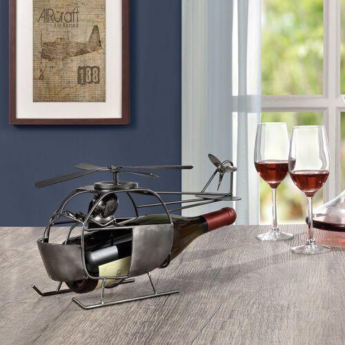 en.casa Weinflaschenhalter, »Hubschrauber« für Weinflaschen mit Ø 8,5cm (max)
