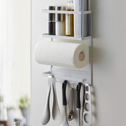 Yamazaki Küchenregal »Tower«, Utensilienhalter, Küchenutensilienhalter, Organizer, magnetisch, weiß