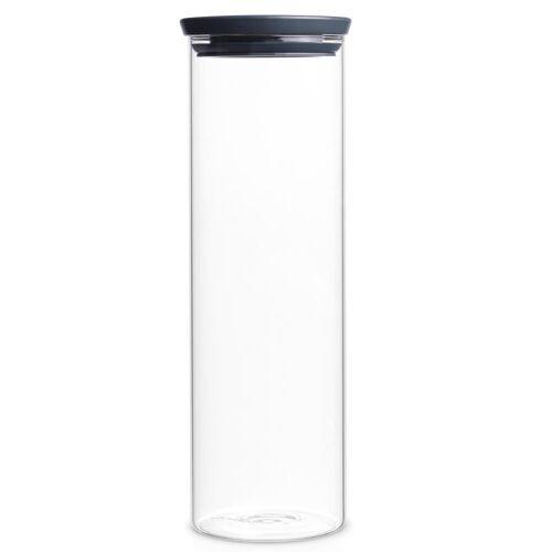 Brabantia Aufbewahrungssystem »Stapelbarer Glasbehälter Dunkelgrau 1.9 L«, Glas, (1-tlg)
