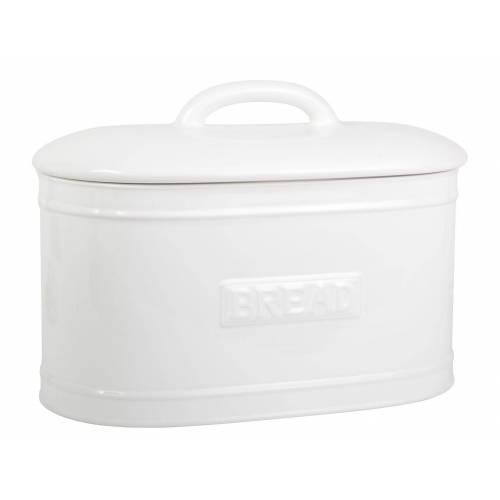 Ib Laursen Brotkasten »Brotkasten Brotbox Brottopf Keramik Weiß Oval Vintage Retro 1982-11«