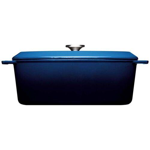 WOLL Bräter »Iron«, Gusseisen, (1-tlg), 34x26 cm, Induktion, blau