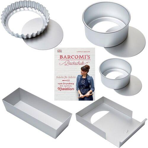 Cynthia Barcomi Backform »Klassiker«, (Set 5-tlg), inkl. Backbuch »Barcomis Backschule«