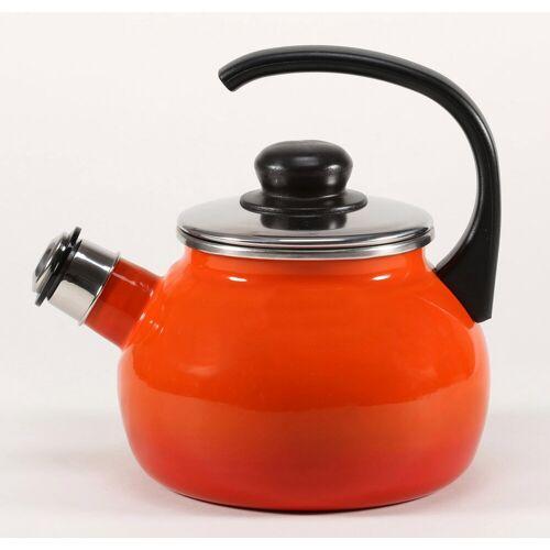 Krüger Wasserkessel »Rom«, Emaille, 2 Liter, Induktion, orange