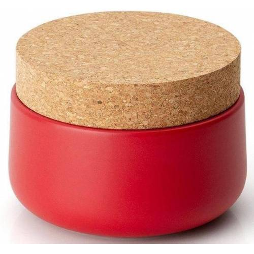 Continenta Vorratsdose, Keramik, Kork, (1-tlg), 13 x 10 cm, rot