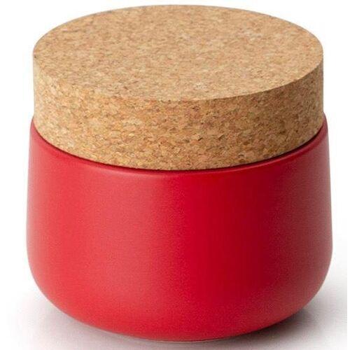Continenta Vorratsdose, Keramik, Kork, (1-tlg), 10,5 x 15 cm, rot