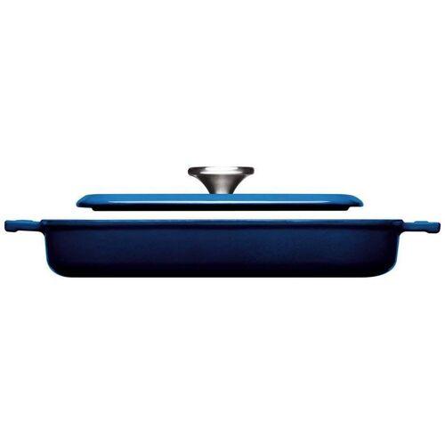 WOLL Grillpfanne »Iron«, Gusseisen (1-tlg), 28x28 cm, Induktion, blau