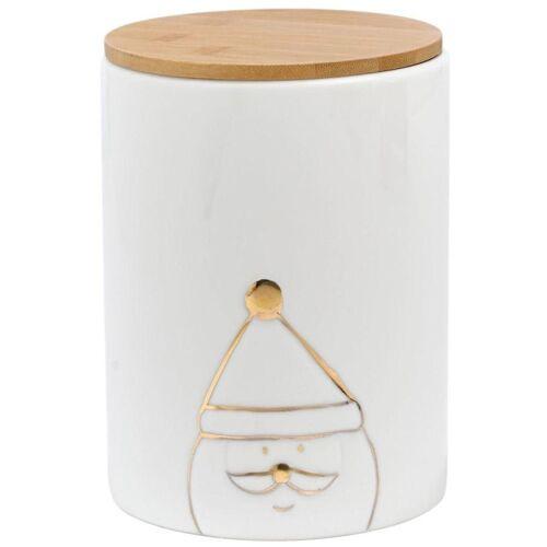 Keksdose »Santa«, Porzellan, Holz, (2-tlg)