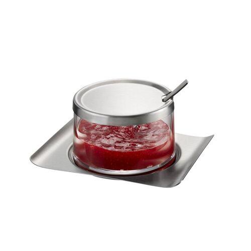 GEFU Marmeladenglas »Marmeladenglas BRUNCH«, Glas, Edelstahl, (1-tlg)
