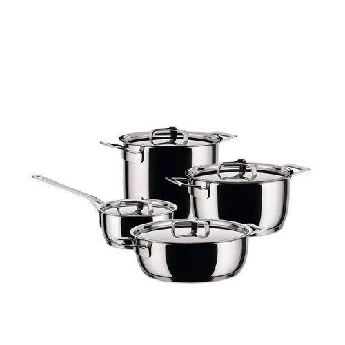 Alessi Topf-Set »Pots&Pans - Topf-Set 9-tlg.«, (9-tlg)