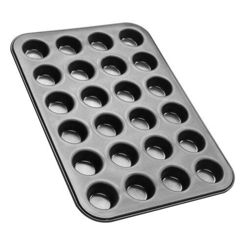 Zenker Muffinplatten »Black Metallic 24er Mini-Muffin-Backblech«, Edelstahl