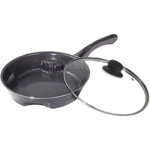 TELESHOP Bratpfanne »Ceraflon Airfry Pan«, Edelstahl (Set, 1-tlg), Frittieren in der Pfanne, Induktion