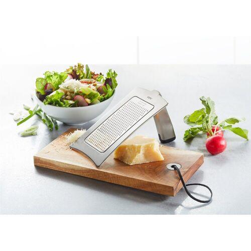 GEFU Küchenreibe »Set Gourmet-Reibe mit Holzbrettchen«, Edelstahl, (2-St)