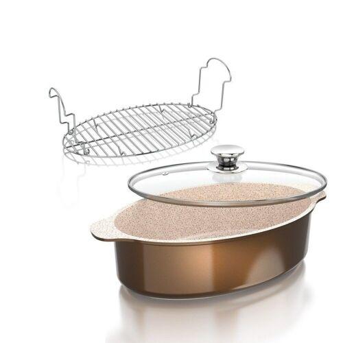 Genius Topf-Set »- Cerafit Granit Bräter Set 3-tlg. Keramik-Töpfe Kochtöpfe 24154«