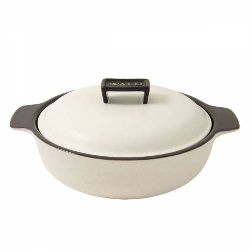 WALD Kochtopf »Keramik-Kochtopf groß flach, weiß«