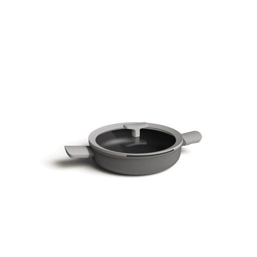 BergHOFF Bratpfanne »Doppelgriffbratpfanne mit Deckel Grau, 26 cm«, Aluminium (1-tlg)
