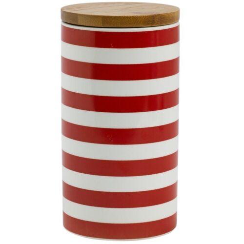 Keksdose »Stripe«, Porzellan, Holz, (1-tlg), Ø 9,5 cm