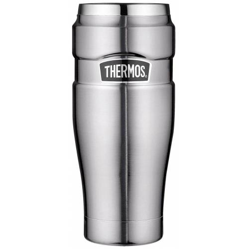 Thermos Thermobecher »Thermokaffeebecher Tumbler 'King'«, Edelstahl, edelstahl