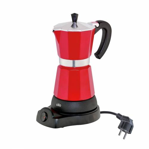 Cilio Espressokocher Elektrischer Espressokocher CLASSICO, Rot